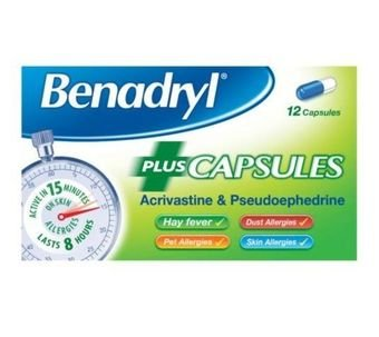 Benadryl Plus Capsules (Pack of 12)