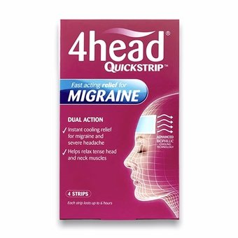 4head Quickstrip for Migraine (Pack of 4)