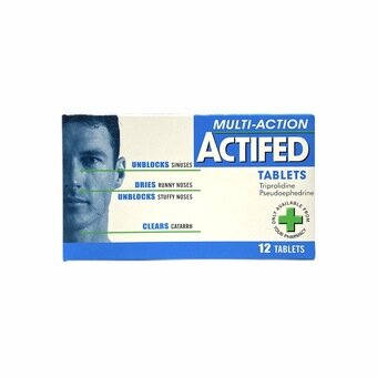 Actifed Multi-Action Tablets (Pack of 12)