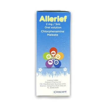 Allerief Chlorphenamine Maleate 2mg/5ml Oral Solution 150ml