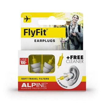 Alpine Flyfit Earplugs + Free Cleanser (1 Pair)