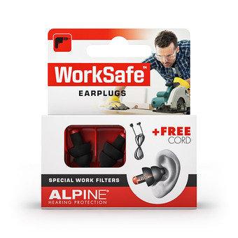 Alpine Worksafe Earplugs + Free Cord (1 Pair)