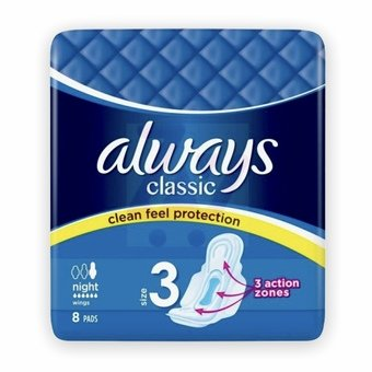 Always Classic With Wings - Night (Pack of 8)