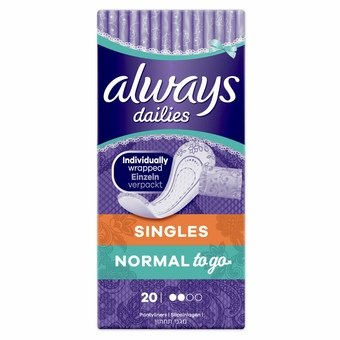 Always Dailies Scented Pantyliner - Normal to go (Pack of 20)