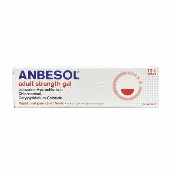 Anbesol Adult Strength Oral Pain Relief Gel 10g