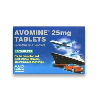 Avomine Tablets 25mg (Pack of 10)
