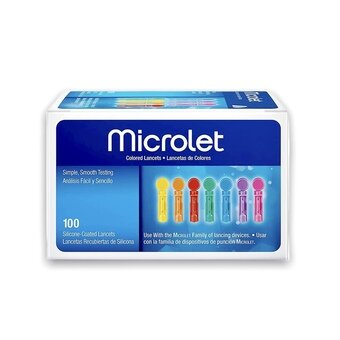 Microlet Blood Lancets 0.5mm/28G (Pack of 100)