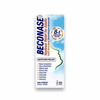 Beconase Allergy Nasal Spray For Adults (100 Dose)