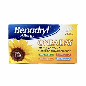 Benadryl One A Day 10mg Tablets (Pack of 7)