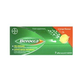 Berocca Energy Tablets - Orange (Pack of 7)