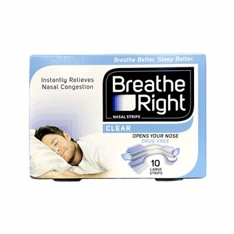 Breathe Right Clear Nasal Strips - Large (Pack of 10)