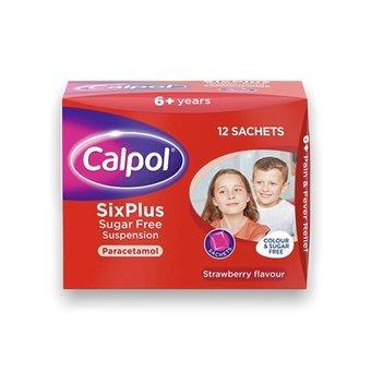 Calpol Six Plus Sugar Free Sachets 5ml (Pack of 12)