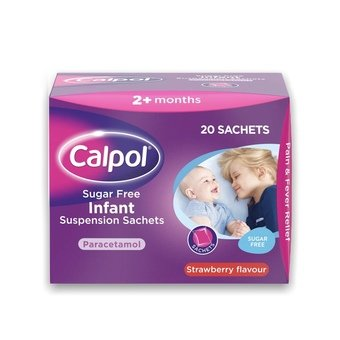 Calpol Sugar-Free Infant Suspension Sachets 5ml (Pack of 12)