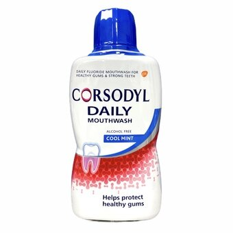 Corsodyl Daily Coolmint Mouthwash Alcohol Free 500ml