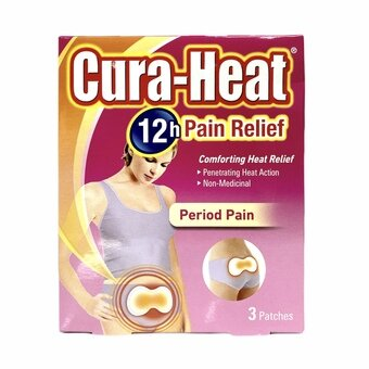 Cura-heat Period Pain Relief Patches (Pack of 3)