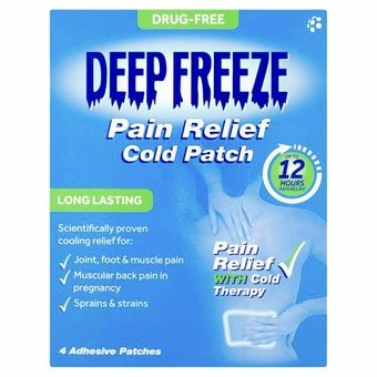 Deep Freeze Pain Relief Cold Patch (Pack of 4)