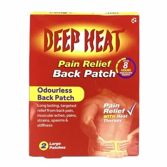 Deep Heat Pain Relief Back Patch (Pack of 2)