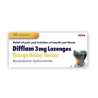 Difflam 3mg Lozenges Orange & Honey (Pack of 20)
