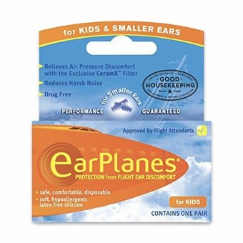 Earplanes Earplugs for Flying - Kids&Smaller Ears (1 Pair)