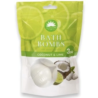 Elysium Bath Bombs Coconut & Lime (Pack of 3)
