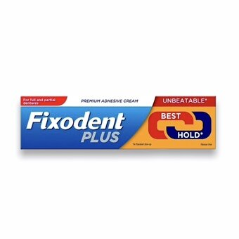 Fixodent Plus Premium Adhesive Cream - Dual Power Flavour Free 40g
