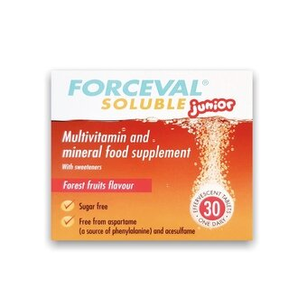 Forceval Soluble Tablets Junior (Pack of 30)