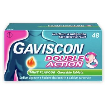 Gaviscon Double Action Chewable Tablets - Mint (Pack of 48)