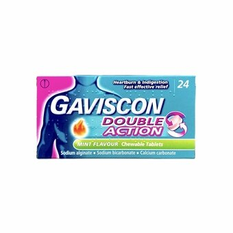 Gaviscon Double Action Chewable Tablets - Mint (Pack of 24)