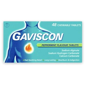 Gaviscon Peppermint Chewable Tablets (Pack of 48)