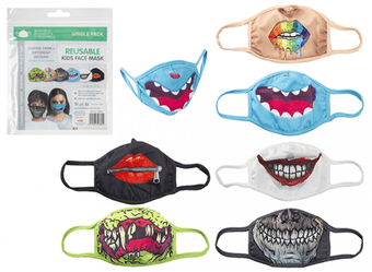 [Multi-buy offer] Kids Reusable Stretchable Patterned Face Mask