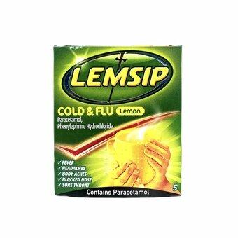 Lemsip Cold & Flu Lemon (Pack of 5)