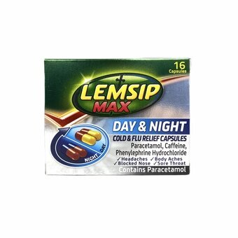 Lemsip Max Cold & Flu Day & Night Capsules (Pack of 16)