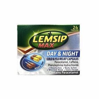 Lemsip Max Cold & Flu Day & Night Capsules (Pack of 24)