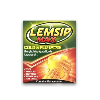 Lemsip Max Cold & Flu Sachets Lemon (Pack of 5)