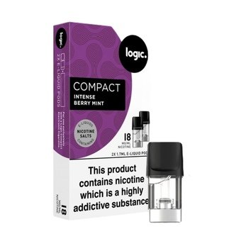 Logic Compact Intense Nic Salt Pods - Berry Mint 18g (Pack of 2)