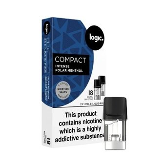 Logic Compact Intense Nic Salt Pods - Polar Menthol 18g (Pack of 2)