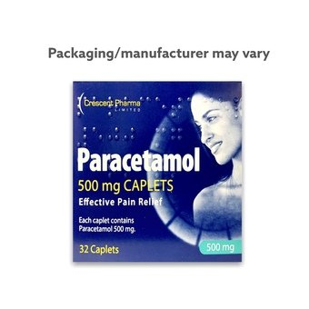 Paracetamol 500mg Caplets (Pack of 32)