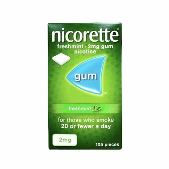 Nicorette 2mg Chewing Gum Freshmint (Pack of 105)