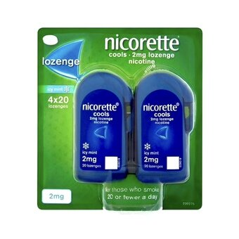 Nicorette 2mg Lozenges Icy Mint (Pack of 4x20)