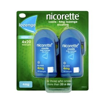 Nicorette 4mg Lozenges Icy Mint (Pack of 4x20)