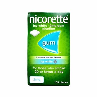 Nicorette Chewing Gum Icy White 2mg (105)