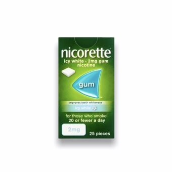Nicorette Chewing Gum Icy White 2mg (25)