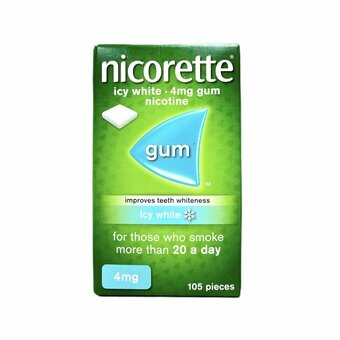 Nicorette Chewing Gum Icy White 4mg (105)