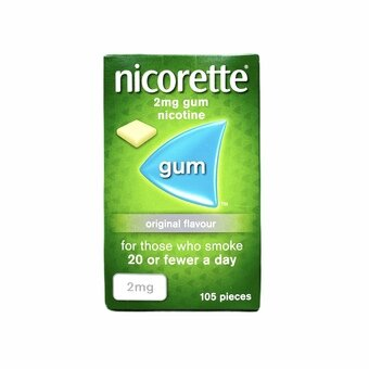 Nicorette Chewing Gum Original 2mg (Pack of 105)