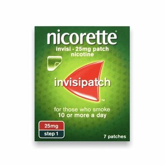 Nicorette Invisi-patch - Step 1 - 25mg (Pack of 7)