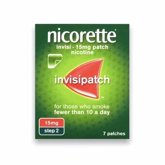 Nicorette Invisi-patch - Step 2 - 15mg (Pack of 7)