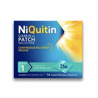 Niquitin Clear Patches - Step 1 - 21mg (Pack of 14)