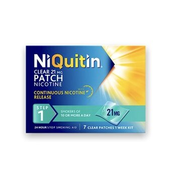 Niquitin Clear Patches - Step 1 - 21mg (Pack of 7)