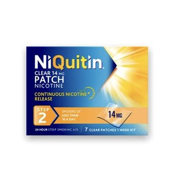 Niquitin Clear Patches - Step 2 - 14mg (Pack of 7)