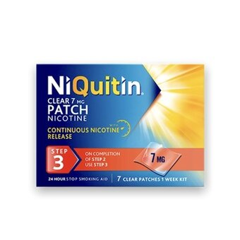 Niquitin Clear Patches - Step 3 - 7mg (Pack of 7)